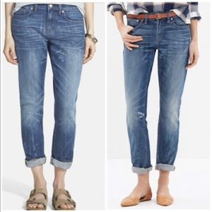 Madewell Slim Boyfriend Paint Spatter Jeans